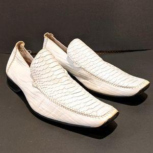 Aldo men's leather white loafers sz 11